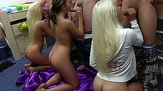 Three college girls for three guys