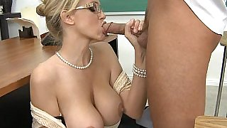Mrs. Julia Ann screams as her student pounding her