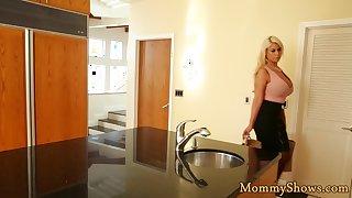 Amazing stepmom licks teen in sixtynine pose