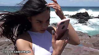 Maya Bijou in Maya Bijou had an excellent time at the nude beach - ATKGirlfriends