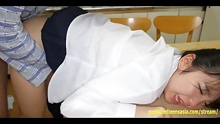 Jav Idol Teen Schoolgirl Fucked On The Kitchen Table And Floor Petite Butt Really Cute Girl