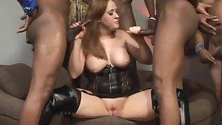 Incredible pornstar Julie Simone in horny swallow, interracial sex video