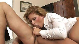 Horny pornstars George Uhl and Brooklyn Lee in exotic blonde, hd xxx video