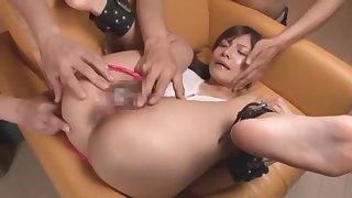 Horny Japanese slut Kiara Suzuki in Crazy Cumshots, Threesomes JAV movie