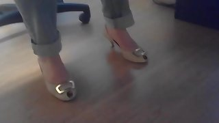 Candid my lawer sexy heels and feet partie 5