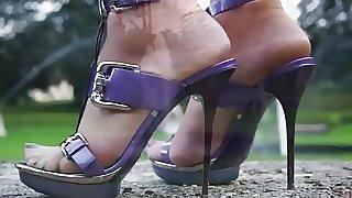 High Heels In Garden