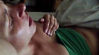Wife masturbates for husban