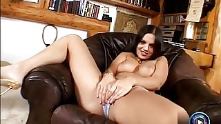 Horny Eve Angel dildoing her dick craving clit