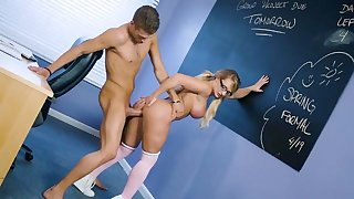 Mind blowing Cali Carter hard sex with a hot student