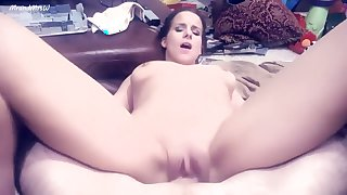 AMAZING CREAMPIE , BEAUTIFUL YOUNG MODEL FUCKS AND TEASES THE CAMERA