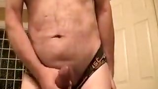 Dirty talking, jerking my thick cock, cumming hard