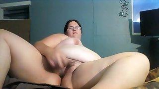 Horny pussy fuck with Wax