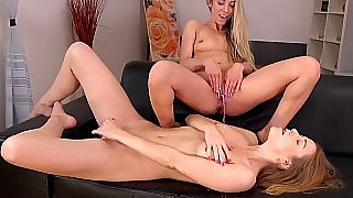 Vicious blondes playing together