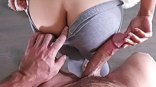 Seductive Teen Plays & Fucks with Huge Boner